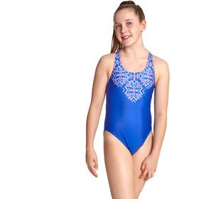 Zoggs Enchanted Rowleeback zwempak Meisjes, multi/blue